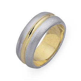 Обручальное кольцо из двухцветного золота 585 пробы, артикул R-СЕ023