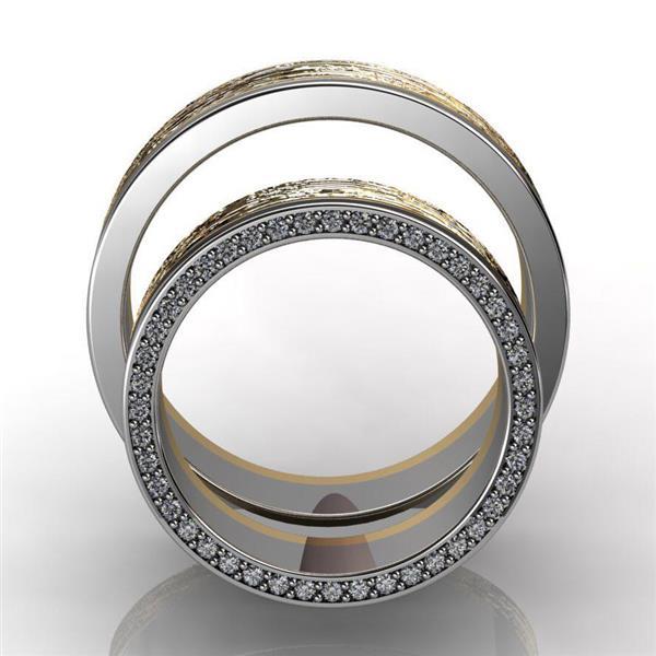 Обручальные кольца парные с бриллиантами из золота 585 пробы