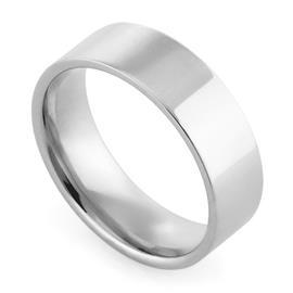 Обручальное кольцо классическое из белого золота, ширина 6 мм, комфортная посадка, артикул R-W1065W