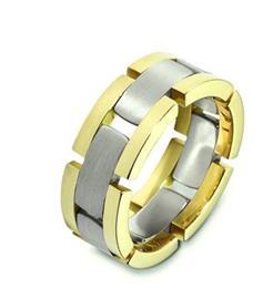 Эксклюзивное обручальное кольцо из золота 585 пробы, артикул R-A2494