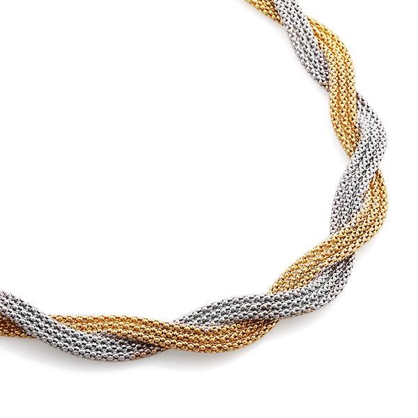 Колье из белого и желтого золота, артикул R-GT-763-12