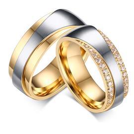 Обручальные кольца парные с бриллиантами из золота 585 пробы, артикул R-ТС AL2313-12
