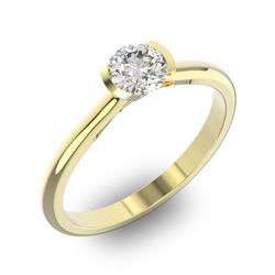 Помолвочное кольцо 1 бриллиантом 0,55 ct 4/5 из желтого золота 585°, артикул R-D32383-1