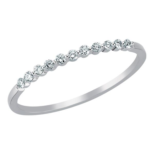 Купить Кольцо из белого золота 750 пробы с 11 бриллиантом 0,10 карат ... a5da2a59e72