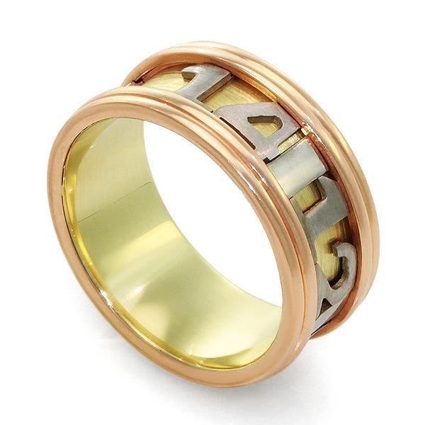 Обучальное кольцо из белого, желтого и розового золота 585 пробы, артикул R-ПН 001