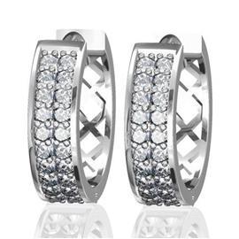 Серьги с 40 бриллиантами 0,48 ct 4/5, из белого золота 585°, артикул R-E36294-3-2