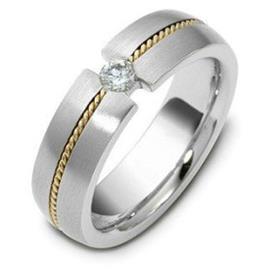 """Обручальное кольцо с бриллиантами серии """"Diamond"""" из золота 585 пробы, артикул R-1562"""