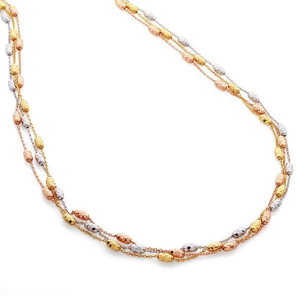 Колье из желтого, белого и розового золота, артикул R-GT-19 (637410)