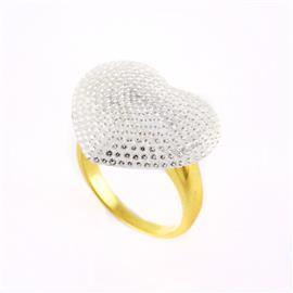 Кольцо с 585 бриллиантами 1,77 ct 4/5 из желтого золота, артикул R-13