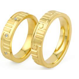 Обручальные кольца с бриллиантами из золота, артикул R-ТС 3356