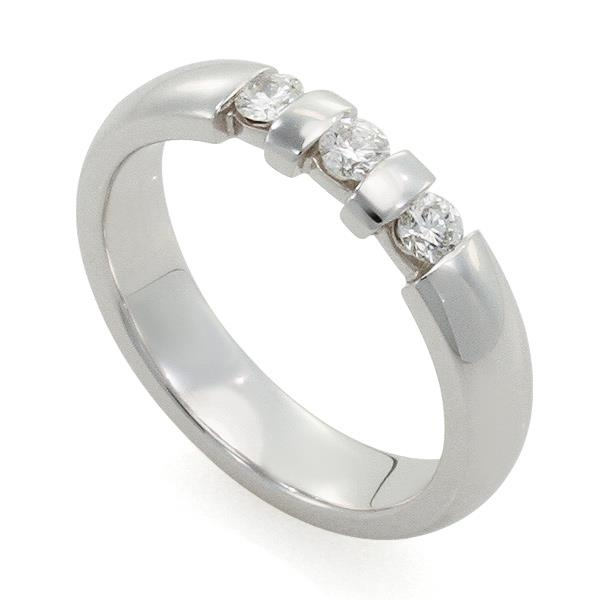 d309180ac5aa Обручальное кольцо с 3 бриллиантами из белого золота 585 пробы, артикул  R-10030