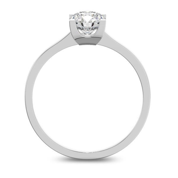Помолвочное кольцо 1 бриллиантом 0,65 ct 4/5 из белого золота 585°