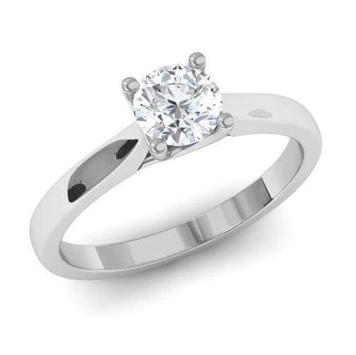 ... Помолвочное кольцо с 1 бриллиантом 0,40 ct 7 8 из белого золота 585 ... a018a2bbfdb