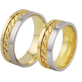Обручальные кольца с бриллиантами из золота, артикул R-ТС 1117