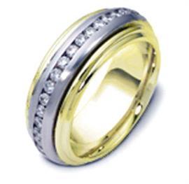 Обручальное кольцо с бриллиантами из золота 585 пробы с бриллиантами, артикул R-1222