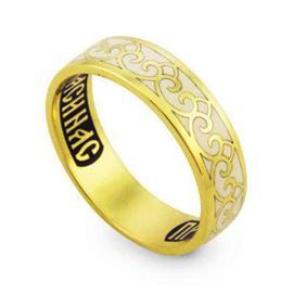Православное кольцо с надписью Пресвятая Богородица спаси нас, артикул R-КЗЭ004-1