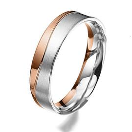 Дизайнерское обручальное кольцо из золота 585 пробы, артикул R-81606-23