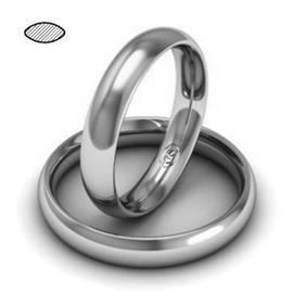 Обручальное кольцо из платины, ширина 4 мм, комфортная посадка, артикул R-W649Pt
