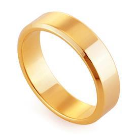 Обручальное кольцо классическое из розового золота, ширина 5 мм, комфортная посадка, артикул R-W955R
