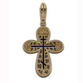 Крест православный с  надписями Иисус Христос, Царь Славы, молитва за Отечество, артикул R-РКс1601-1
