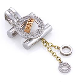 Подвеска из белого, желтого и розового золота 750° с 93 бриллиантами 0,60 ct 4/4, артикул R-СК716