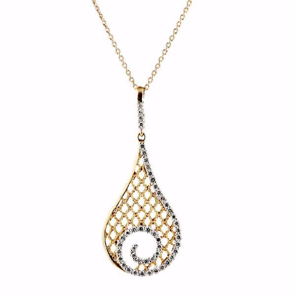 Колье с 47 бриллиантами 0,64 ct 3/4 из белого и розового золота