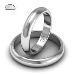 Обручальное кольцо классическое из белого золота, ширина 4 мм, артикул R-W245W