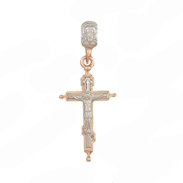 Крест нательный православный Распятие Христово, артикул R-4-047-000
