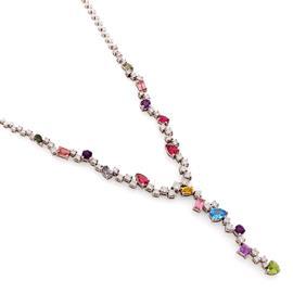 Колье с драгоценными и полудрагоценными камнями, артикул R-MNK00023-03