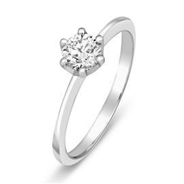Кольцо с бриллиантом 0,27 ct 3/5  из белого золота 585 пробы, артикул R-НП 075