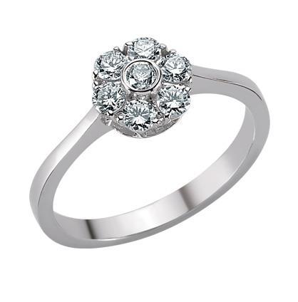 Купить Кольцо из белого золота 750 пробы с 7 бриллиантом 0,44 карат ... 127adfc4522