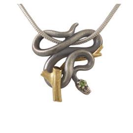 Кулон Змейка серебро 925, артикул R-308506