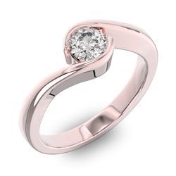 Помолвочное кольцо 1 бриллиантом 0,5 ct 4/5 из розового золота 585°, артикул R-D38248-3