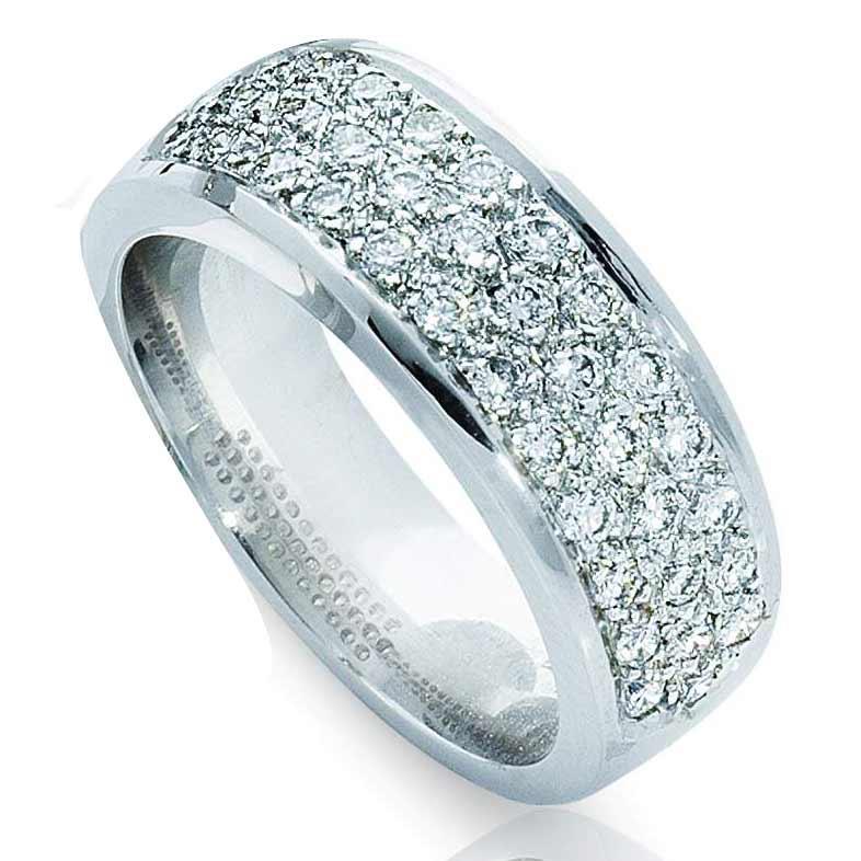 Обручальное кольцо с бриллиантами, артикул R-3298