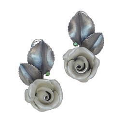 Серьги Роза серебро 925, артикул R-224014
