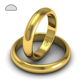 Обручальное кольцо из желтого золота, ширина 4 мм, артикул R-W245Y