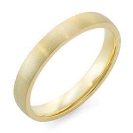 Облегающее обручальное кольцо  с матовой поверхностью из желтого золота, артикул R-1201-01м
