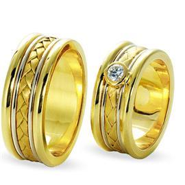 """Обручальные кольца парные из золота 585 пробы серия """"Twin set"""", артикул R-ТС 1114"""