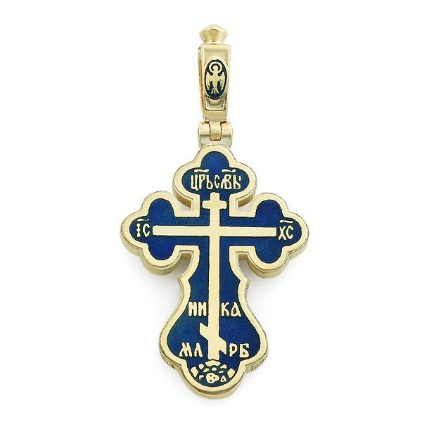 Крест православный с надписями Иисус Христос, Царь Славы, Спаси и сохрани, артикул R-РКг1602-1