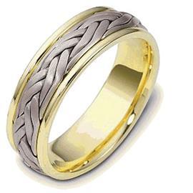 Обручальное кольцо из белого и желтого золота, артикул R-022451-750