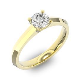 Помолвочное кольцо 1 бриллиантом 0,5 ct 4/5 из желтого золота 585°, артикул R-D35995-1