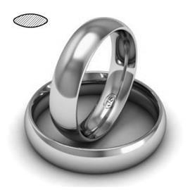 Обручальное кольцо из платины, ширина 5 мм, комфортная посадка, артикул R-W659Pt