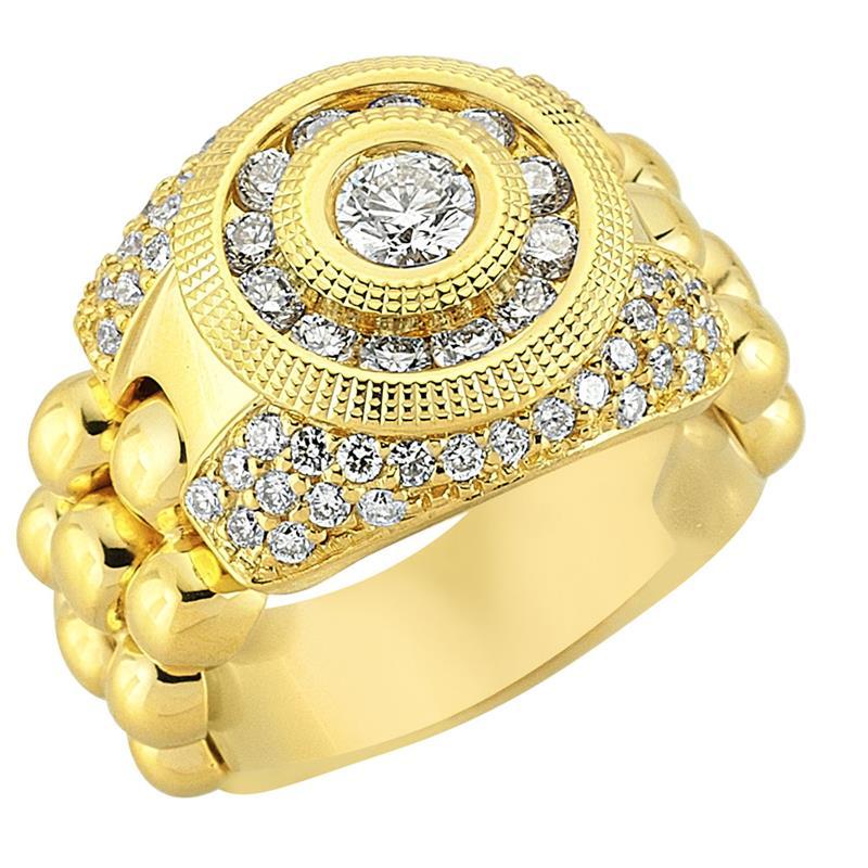 Кольцо из желтого золота 750 пробы с бриллиантами, артикул R-80924