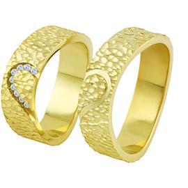 Обручальные кольца с бриллиантами из золота, артикул R-ТС 3410