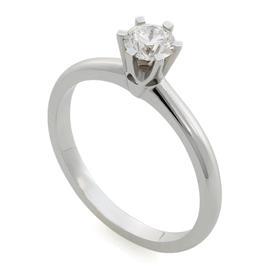 Помолвочное кольцо с 1 бриллиантом 0,44 ct 4/6 белое золото 750°, артикул R-СА290512-2