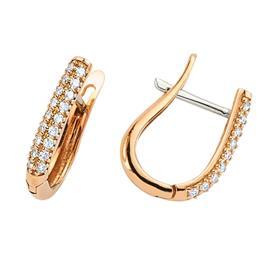 Серьги с 36 бриллиантами 0,30 ct 4/5 из розового золота, артикул R-DEA05790-01