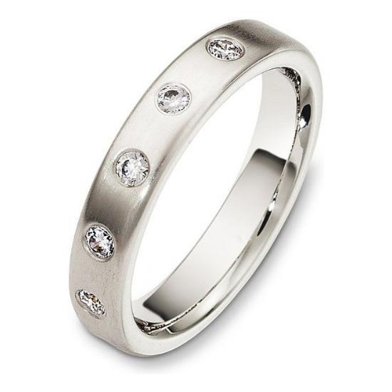 e748de186da6 Обручальное кольцо с бриллиантами из белого золота 585 пробы, артикул R-3030