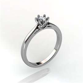 Кольцо с бриллиантом 0,23 ct 3/5  из белого золота 585 пробы, артикул R-D38645 (0.25)