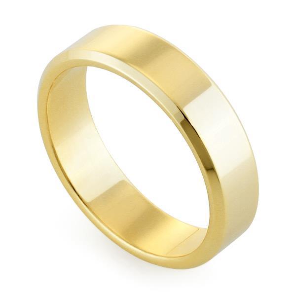 Обручальное кольцо классическое из желтого золота, ширина 5 мм, комфортная посадка, артикул R-W955Y