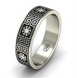 """Эксклюзивное обручальное кольцо ручной работы из  коллекции """"Илиада"""", артикул R-MD76646"""